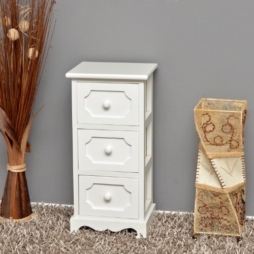 Ts ideen mobiletto in legno bianco per la cucina,corridoio e per ...