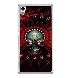 Skull with Red eyes 2D Hard Polycarbonate Designer Back Case Cover for Sony Xperia Z4