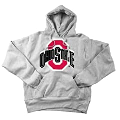 Ohio State Buckeyes Mens Hooded Sweatshirt Icon Gray by Elite Fan Shop