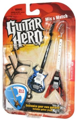 Mcfarlane Toys Guitar Hero 2009 Mix Match Guitars Wave 1 Frydaze Forge Voracious Cedar Ripple - 1