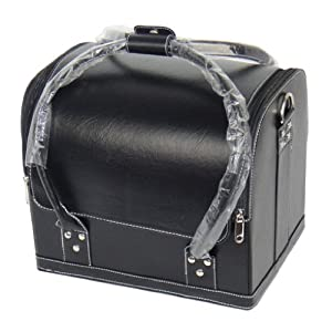 Large Leather Makeup Train Case Make up Case Jewelry Organizer With Straps