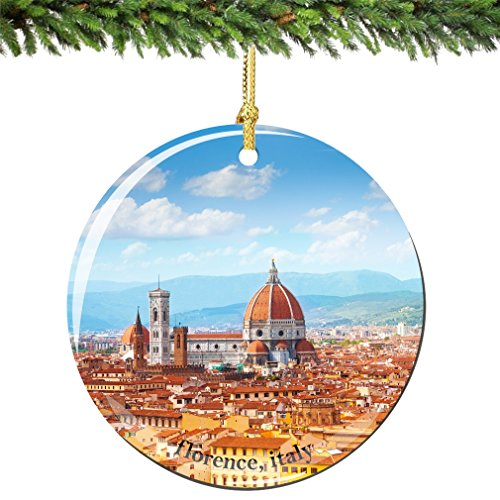 florence christmas ornament italy porcelain 275 double sided florence cathedral italian christmas ornaments