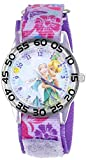 Disney Kids' W001187 Time Teacher Watch with Floral Nylon Band