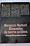 img - for Elementos de Teoria Politica book / textbook / text book