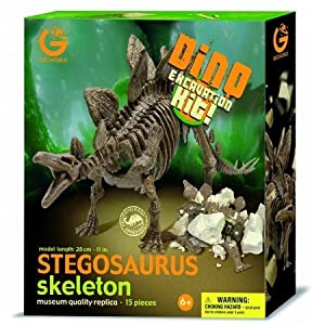 Geoworld Dino Excavation Kit - Stegosaurus Skeleton