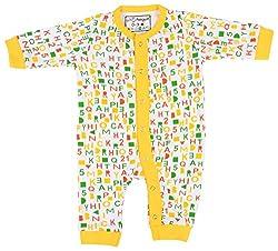 Lil Penguin Baby Girls' Cotton Romper (LP03G2, White, 3-6 Months)