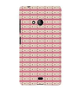 EPICCASE ethnic dots Mobile Back Case Cover For Nokia Lumia 540 (Designer Case)