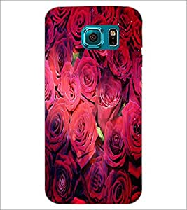 PrintDhaba Roses D-4852 Back Case Cover for SAMSUNG GALAXY S6 EDGE (Multi-Coloured)