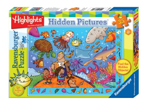 51V0uZtkaVL Cheap Price Ravensburger Highlights: SomethingS Fishy   35 Pieces Hidden Pictures Puzzle