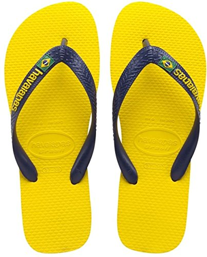 Havaianas Brasil Logo, Infradito, Unisex-adulto, Giallo (Citrus Yellow 2197), 41/42 EU (39/40 BR)