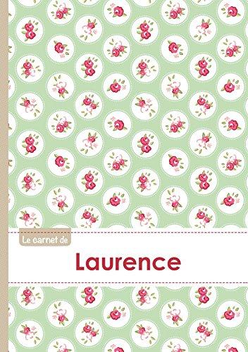 Le carnet de Laurence - Lignes, 96p, A5 - Roses Tea time (Adulte)