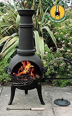 Santa Lucia - 110cm Cast Iron Chimenea Black - Medium from Primrose