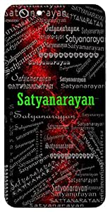 Satyanarayan (Lord Vishnu) Name & Sign Printed All over customize & Personalized!! Protective back cover for your Smart Phone : Moto G2 ( 2nd Gen )