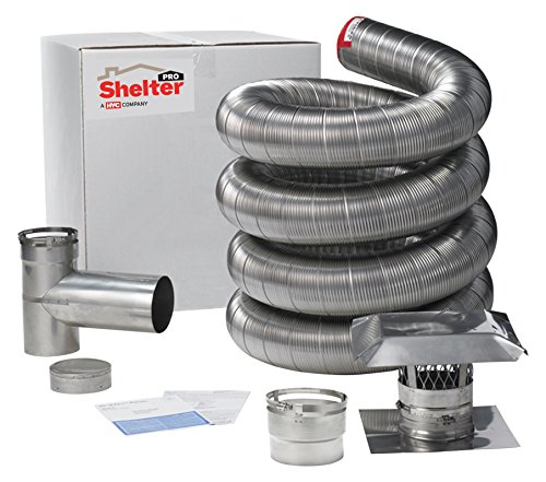 ShelterPro NCCB635UK Flex Liner - 6 inch H x 6 inch W x 420 inch D Flex Liner (Wood Stove Flue Adapter compare prices)
