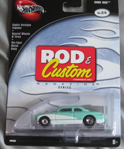 Hot Wheels Rod & Custom 2/4 Shoe Box TEAL WHITE - 1