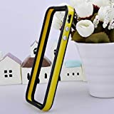 Original New Style Iphone 5/5s Hybrid TPU PC Bumper Frame Case Cover Silicon Bumper Yellow/Black by TB1 Products ®