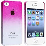 Snap-on Case compatible with Apple® iPhone® 4 / 4S , Clear Hot Pink Waterdrop