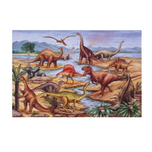 Cheap Melissa & Doug Dinosaur Floor Puzzle Set (Set Of 2) (B0007P9540)