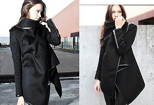 Zeagoo Fashion Women Slim Fit Woolen Coat Trench Coat Long Jacket Outwear Overcoat