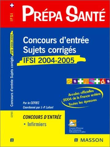 Concours d'entrée IFSI : Sujets corrigés