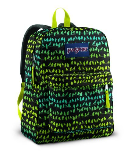Jansport Classics Series Superbreak Backpack (Alien Green Crows Club) Color: Alien Green Crows Club Toy, Kids, Play, Children front-759212