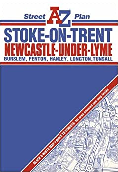 A To Z Street Plan Of Stoke On Trent And Newcastle Under Lyme 1m 3 5 Street Plans Amazon