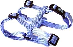"Hamilton Adjustable Comfort Nylon Dog Harness, Berry Blue, 1"" x 30-40"""