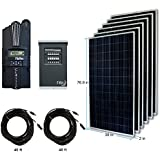 RENOGY® 1800W Polycrystalline Cabin Solar Kit: 6 300W Polycrystalline Solar Panels + 1 Midnite Classic 200 MPPT Charge Controller + 2 Pair of 40Ft MC4 Adaptor Kit with Male and Female Connector + MNPV6 Combiner Box and 2 MNEPV12 Breaker