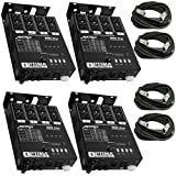 4 x MATRIX DMX PRO 4Ch. Double Output Dimmer Pack System w/ 4x XLR DMX Cables
