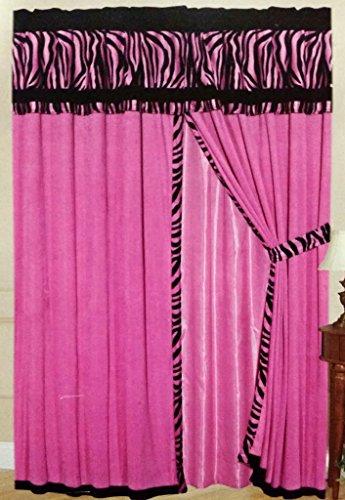 Pink Zebra Comforter front-238679