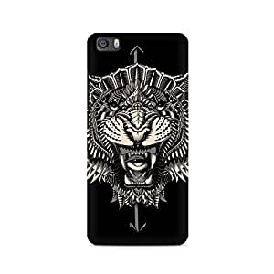 Motivatebox- Abstract Tiger Premium Printed Case For Xiaomi Redmi Mi4i -Matte Polycarbonate 3D Hard case Mobile Cell Phone Protective BACK CASE COVER. Hard Shockproof Scratch-