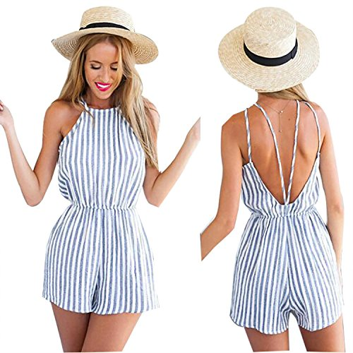Halter Backless Playsuit Bodycon Party Jumpsuit Romper Trousers