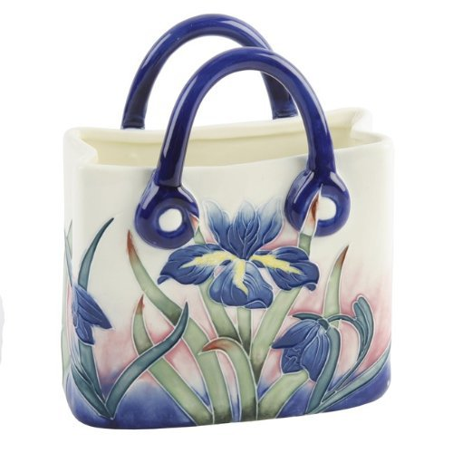 Old Tupton Ware - Iris Ceramic Hand Bag Vase (Plain Brown Box)