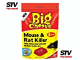 THE BIG CHEESE Mouse & Rat Killer For Home and Garden 6 Sachets STV122
