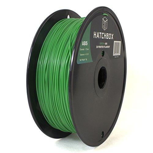 HATCHBOX-3D-ABS-1KG175-GRN-ABS-3D-Printer-Filament-Dimensional-Accuracy-005-mm-1-kg-Spool-175-mm-Green
