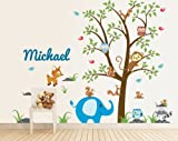 Nursery Tree Animal Decal - Nursery Animal Wall Decals