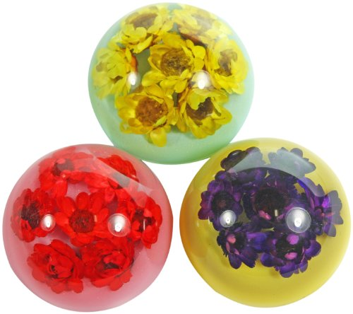 "1.1"" Pipewort Flower Magnets 3 pc Set - 1"