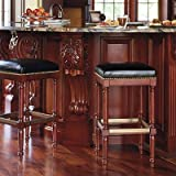 "Raffles 31-1/2"" Bar Height Backless Bar Stool - Bourbon - Frontgate"