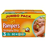 Pampers Simply Dry Size 3 (Mini) Jumb...