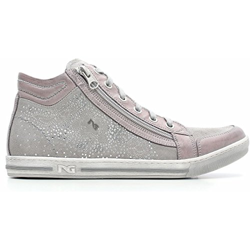 Nero Giardini Sneaker Donna in Camoscio e Pelle, Primavera/Estate P615111D - 105 (37, Dream Grigio)