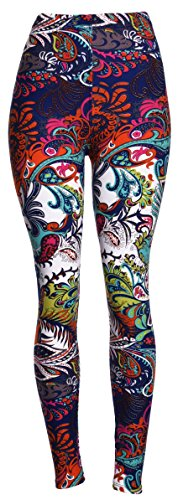 High Quality Printed Leggings (Chromatic Splash),One Size Fits All: 0 (XS) - 12 (L)