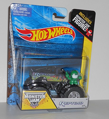 Hot Wheels Off-Road - Monster Jam 2014 - Reptoid # 77 1/64 (Includes Monster Jam Figure)