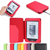 MoKo(TM) Cover Case for Amazon Kindle Paperwhite (6&quot; High Resolution Display with Built-in Light), Red (with Auto Sleep/Wake)--Lifetime Warranty