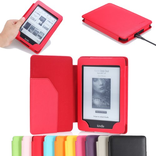 "MoKo(TM) Cover Case for Amazon Kindle Paperwhite (6"" High Resolution Display with Built-in Light), Red (with Auto Sleep/Wake)--Lifetime Warranty"