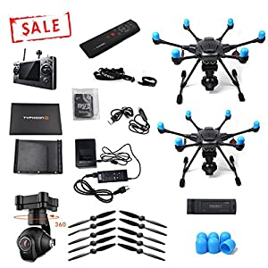 Yuneec Typhoon H with Wizard controller and TWO drone bundle (Full drone + bare Typhoon H) brought to you by Yuneec