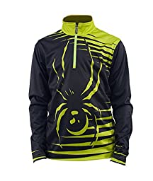 Boys Powergrade Dry WEB T-Neck (Black/Sharp Lime/Sharp Lime)