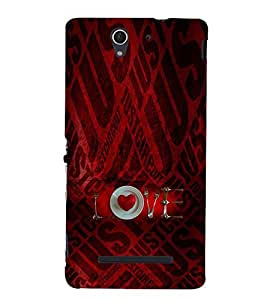 EPICCASE Heart in Plate Mobile Back Case Cover For Sony Xperia C3 (Designer Case)