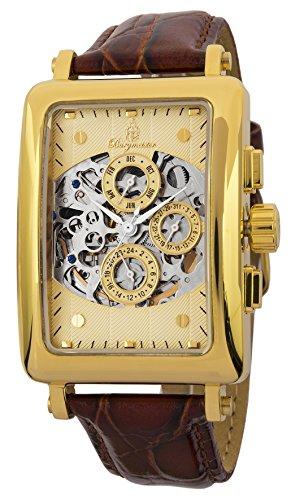 Burgmeister BM107-275 - Reloj para hombres, correa de cuero color marrón