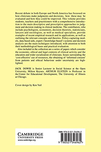Professional Judgment Paperback: A Reader in Clinical Decision Making