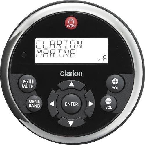 Clarion-MW1-Marine-Kabelfernbedienung-rund-mit-Display-fr-Marine-Steuergerte